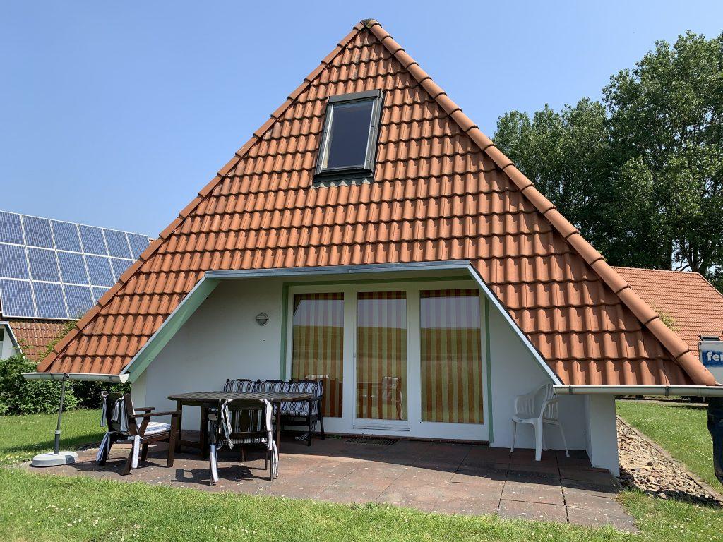 Rückansicht Ferienhaus Lale Andersen 27, Wremen